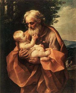 São José com o menino Jesus. Crédito: Reprodução