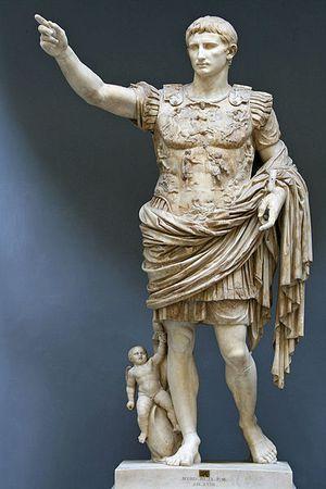 Estátua do imperador romano Augusto. Crédito: Reprodução