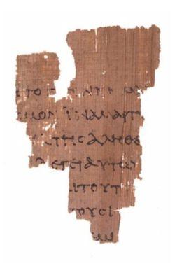 """O mais antigo fragmento do Novo Testamento é este trecho do Evangelho de João em papiro. Nesse pedaço do texto está o famoso diálogo de Jesus com Pilatos, no qual o romano pergunta """"O que é a verdade?"""" (Crédito: Reprodução)"""