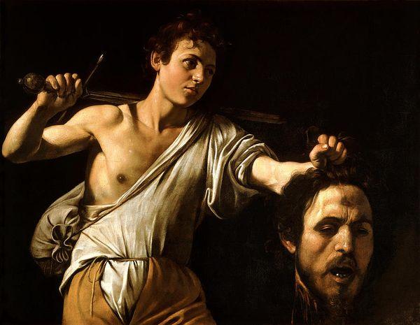 David com a cabeça de Golias em pintura de Caravaggio: será que ele foi o matador mesmo?