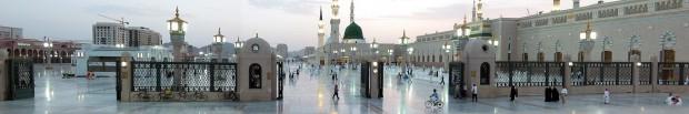 Mesquita do Profeta na cidade árabe de Medina (Crédito: Creative Commons)