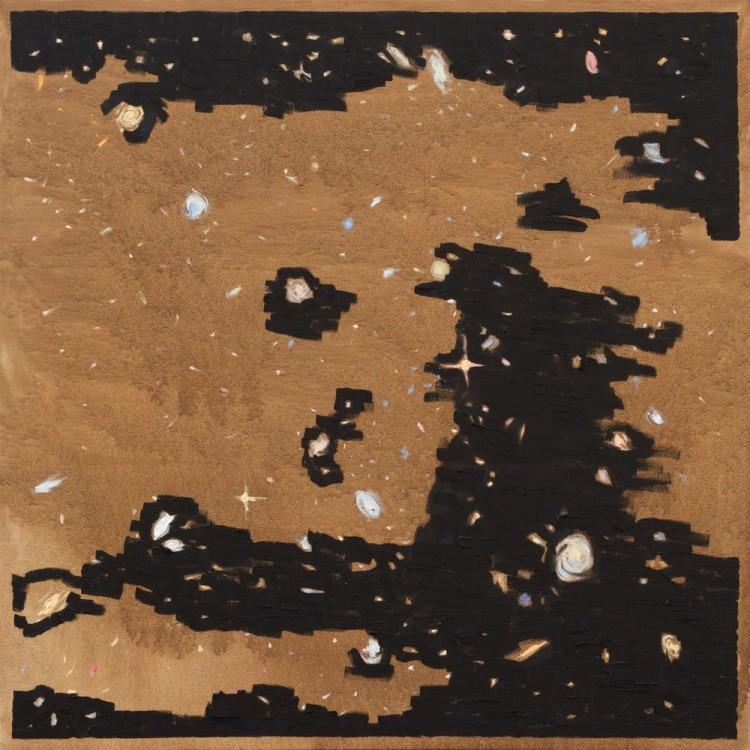 Recriação artística de uma imagem do Telescópio Espacial Hubble (Crédito: Divulgação)
